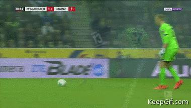 Goalkeeper takes his eye off the ball attempting to play a pass