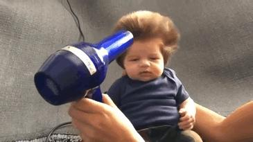 Hairy baby contest