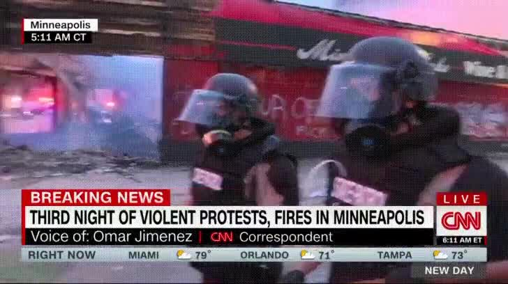 ⁣A CNN correspondent just arrested while reporting live from Minneapolis