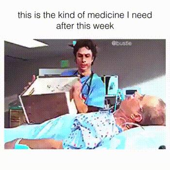 This is the kind of medcine I need everyday 😊 😁