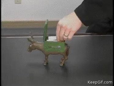 Dramatic Donkey Cigarette Dispenser