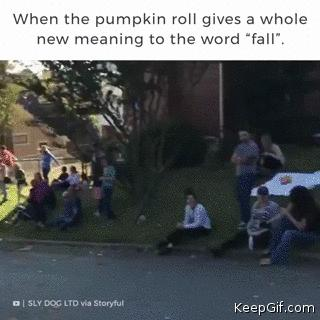 when the pumpkin roll gives a whole new meaning to the world fall