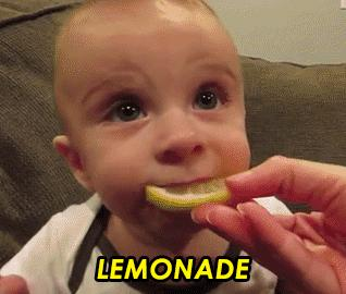 Baby VS Lemon 😂