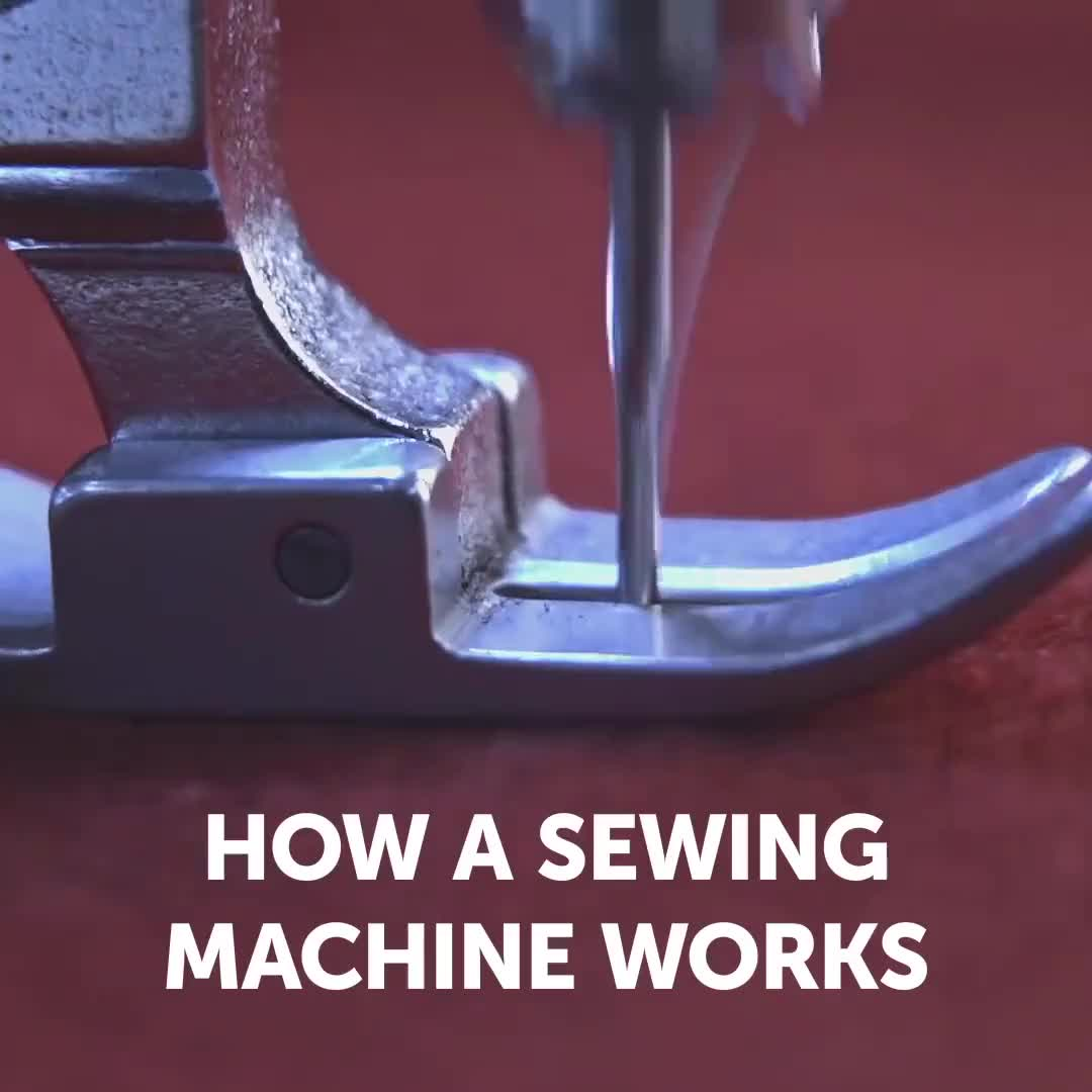 ⁣how a sewing machine works.