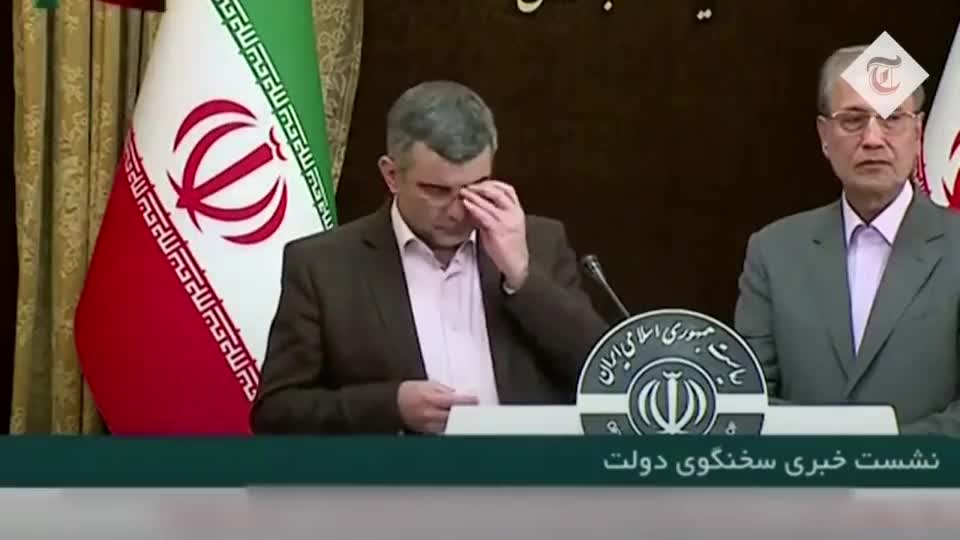 ⁣Iran deputy minister of health denies high spread of coronavirus, while he himself is sick with it and DOESN'T KNOW