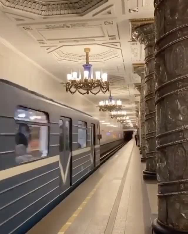 Saint Petersburg beautiful metro stations