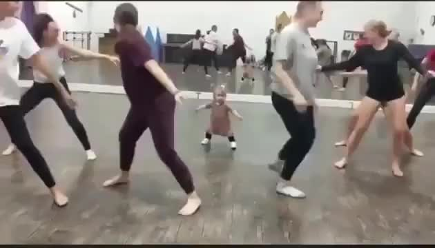 This baby is our ⁣Fitness Instructor